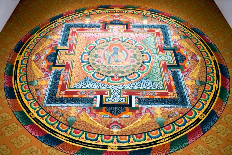 Six-Senses-Bhutan-Thimphu-entrance-ceiling