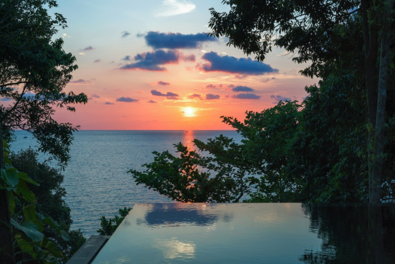 Six-Senses-Krabey-Island-ocean-pool-villa-suite-sunset